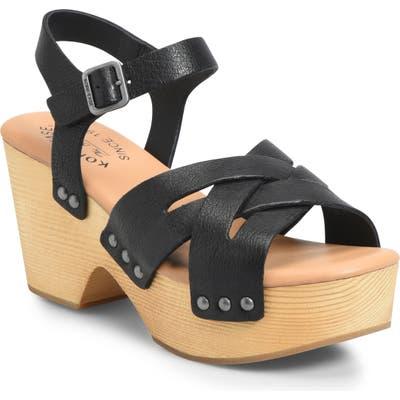 Kork-Ease Wausau Platform Sandal, Black