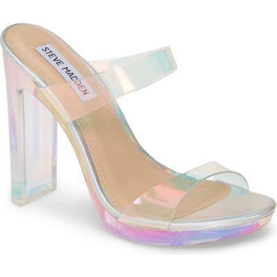Steve Madden Glassify Clear Sandal- White