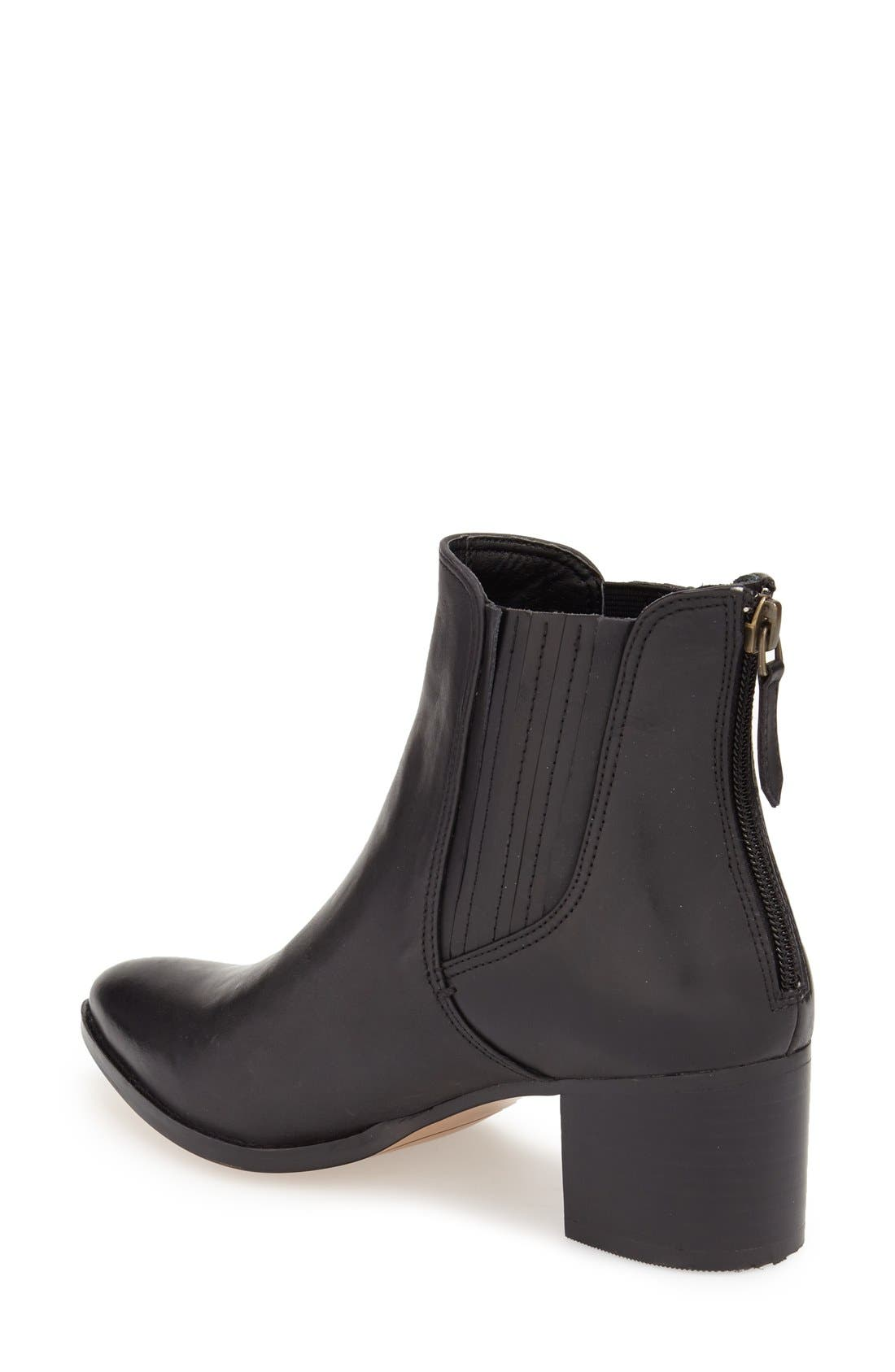 ,                             'Bailey' Pointy Toe Block Heel Bootie,                             Alternate thumbnail 2, color,                             001