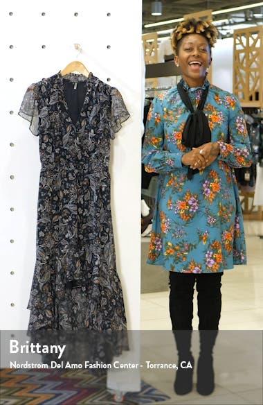 Lyrical Paisley Tiered Ruffle Midi Dress, sales video thumbnail