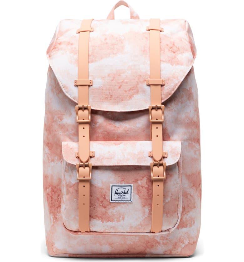 HERSCHEL SUPPLY CO. Little America - Mid Volume Backpack, Main, color, PASTEL CLOUD PAPAYA