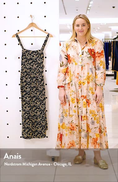 Floral Print Apron Sundress, sales video thumbnail