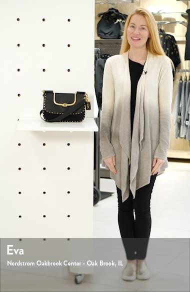 Ellie Rivets Leather & Suede Crossbody Bag, sales video thumbnail