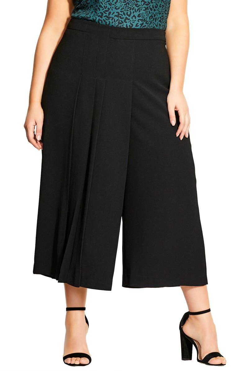 CITY CHIC Eternal Pleat Pants, Main, color, 001