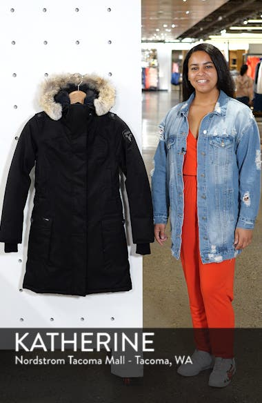 Abby Hooded Down Parka with Genuine Coyote Fur Trim, sales video thumbnail