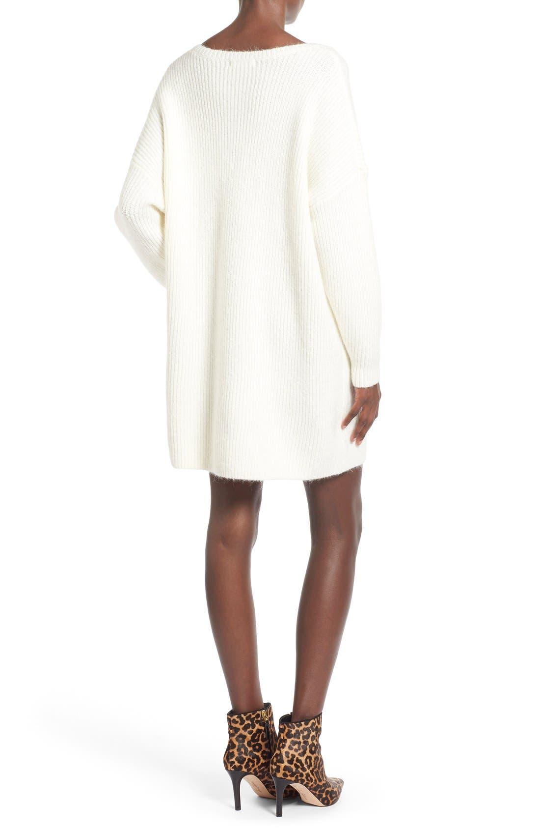 ,                             V-Neck Sweater Minidress,                             Alternate thumbnail 8, color,                             900