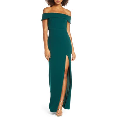 Lulus Off The Shoulder Mermaid Gown