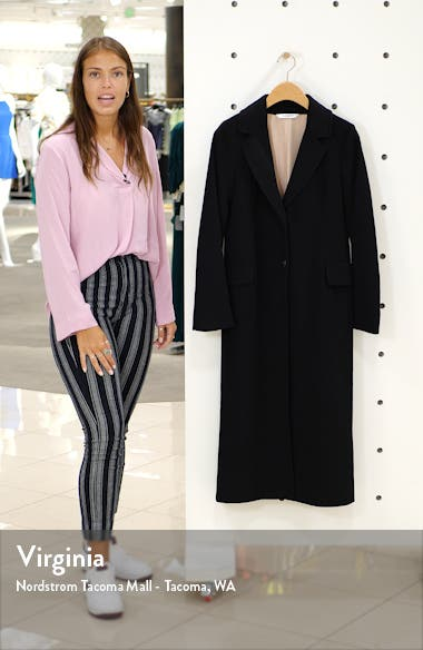 Notch Collar Wool Maxi Coat, sales video thumbnail
