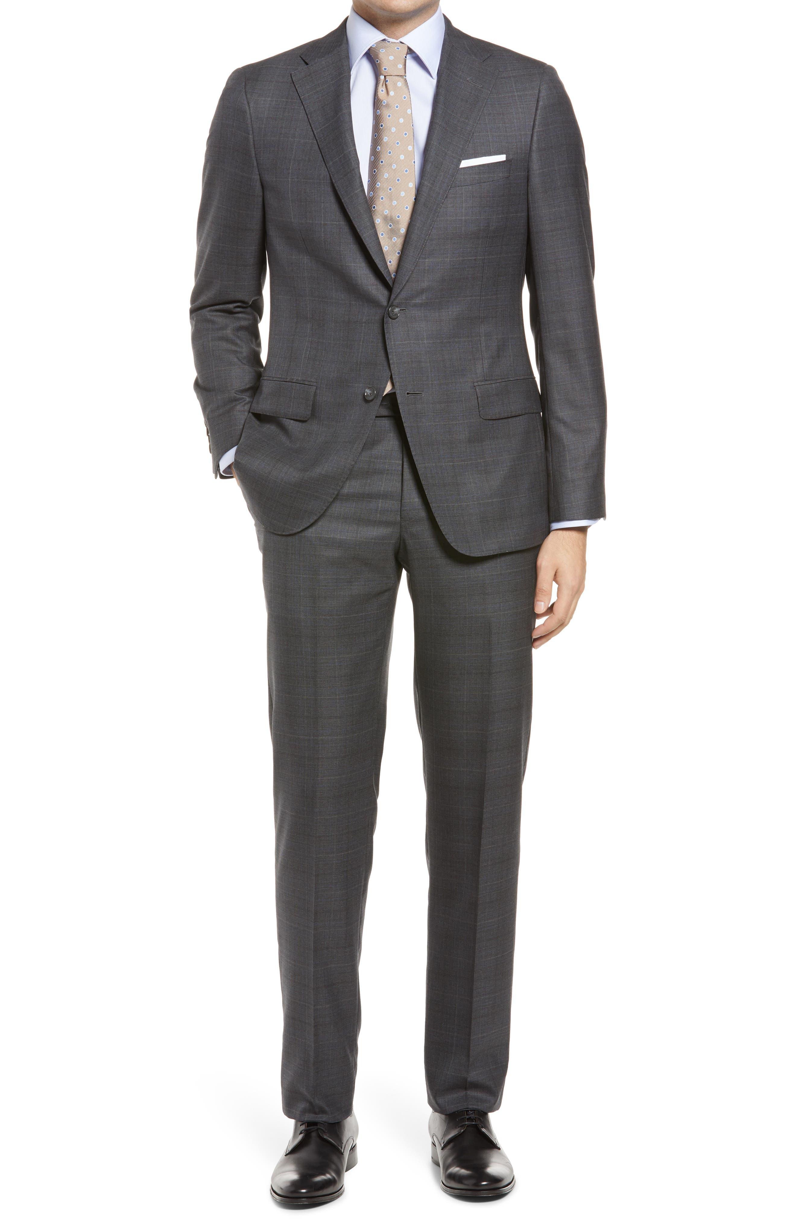 Plaid Classic Fit Loro Piana Wool Suit