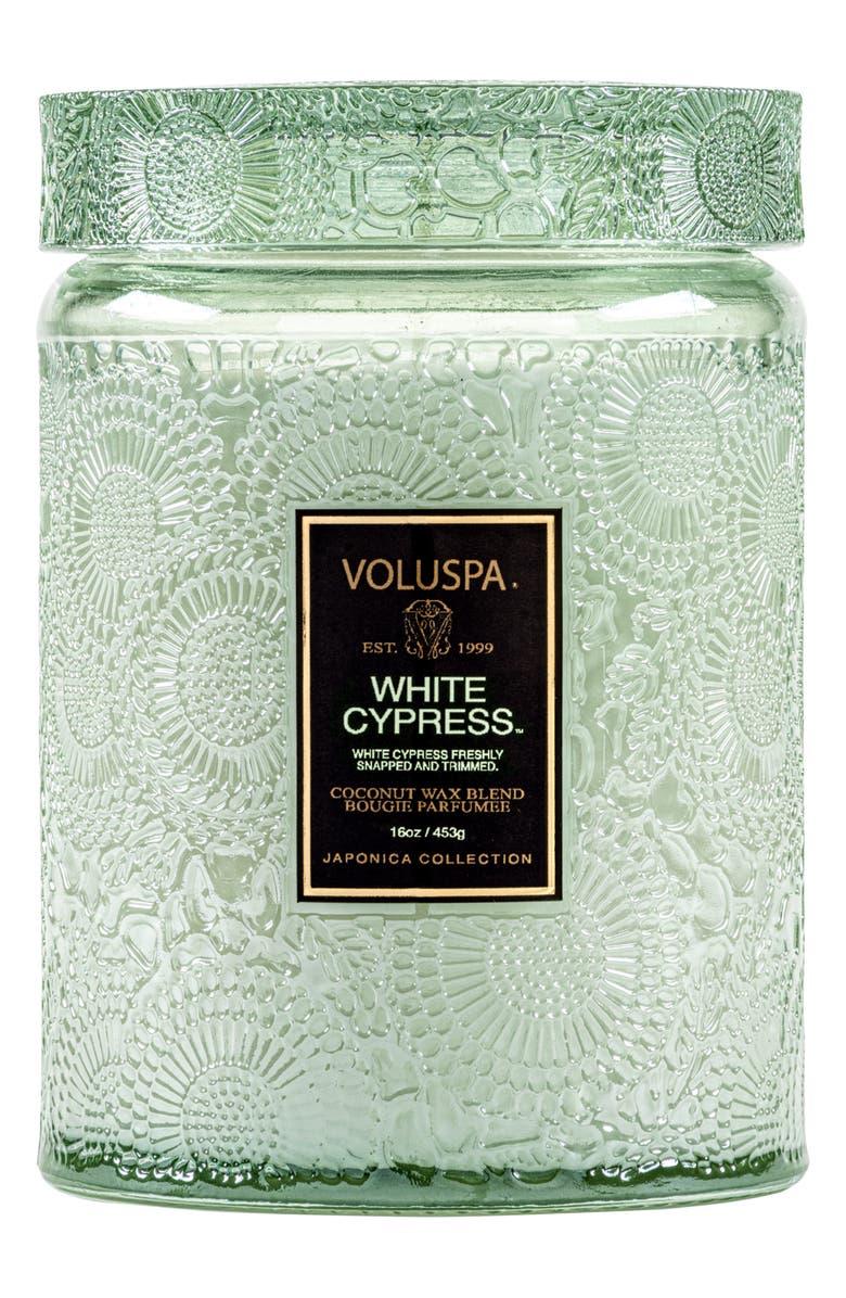 VOLUSPA Japonica White Cypress Large Jar Candle, Main, color, NO COLOR
