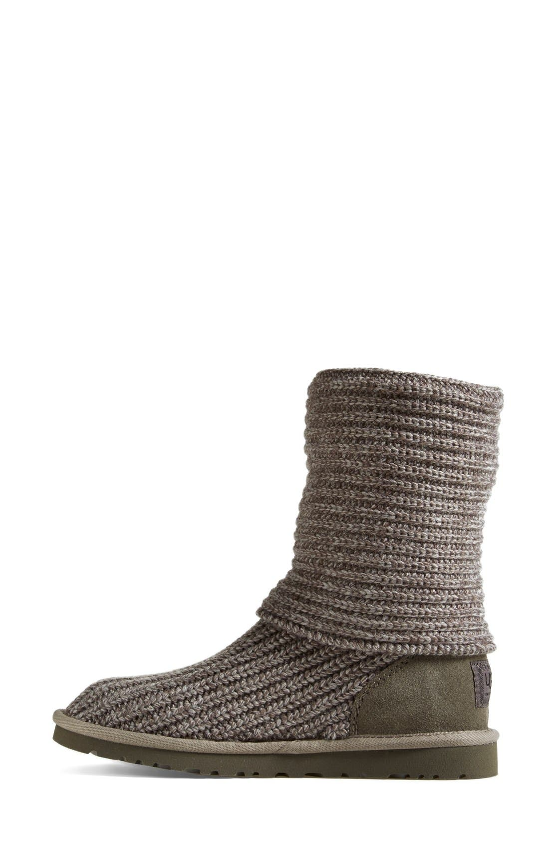 ,                             'Cardy' Classic Knit Boot,                             Alternate thumbnail 76, color,                             GRY