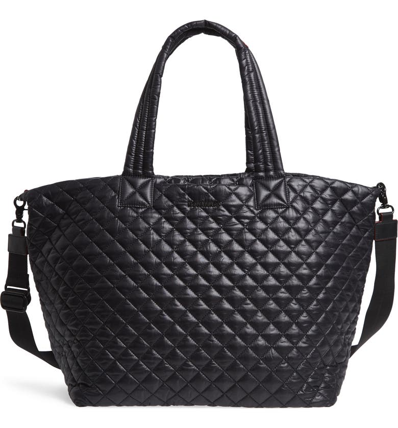 MZ WALLACE Deluxe Large Metro Tote, Main, color, BLACK