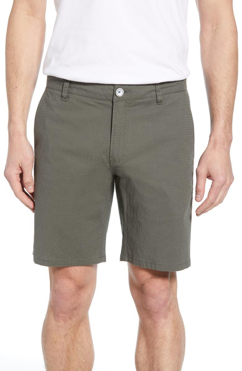 RODD & GUNN Kettle Park Custom Seersucker Shorts, Main, color, KHAKI