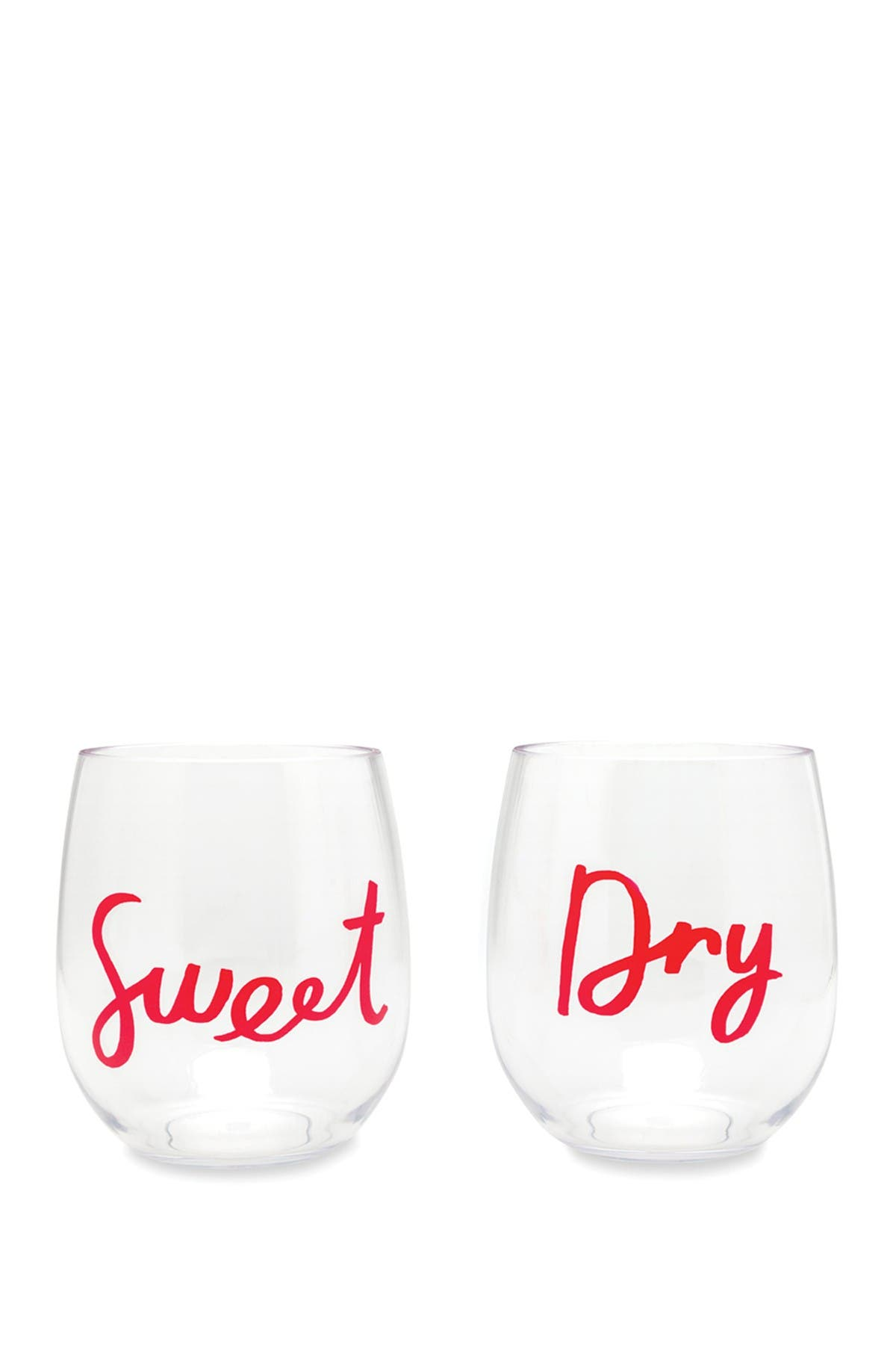 Image of kate spade new york sweet and dry acrylic wine glass - set of 2