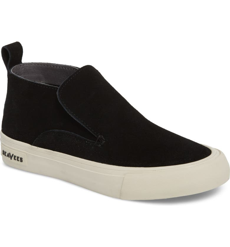 SEAVEES Huntington Middie Slip-On Sneaker, Main, color, BLACK SUEDE