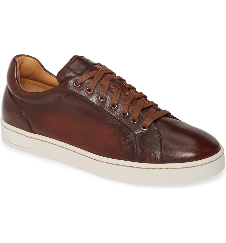 MAGNANNI Elonso Low Top Sneaker, Main, color, TOBACCO LEATHER