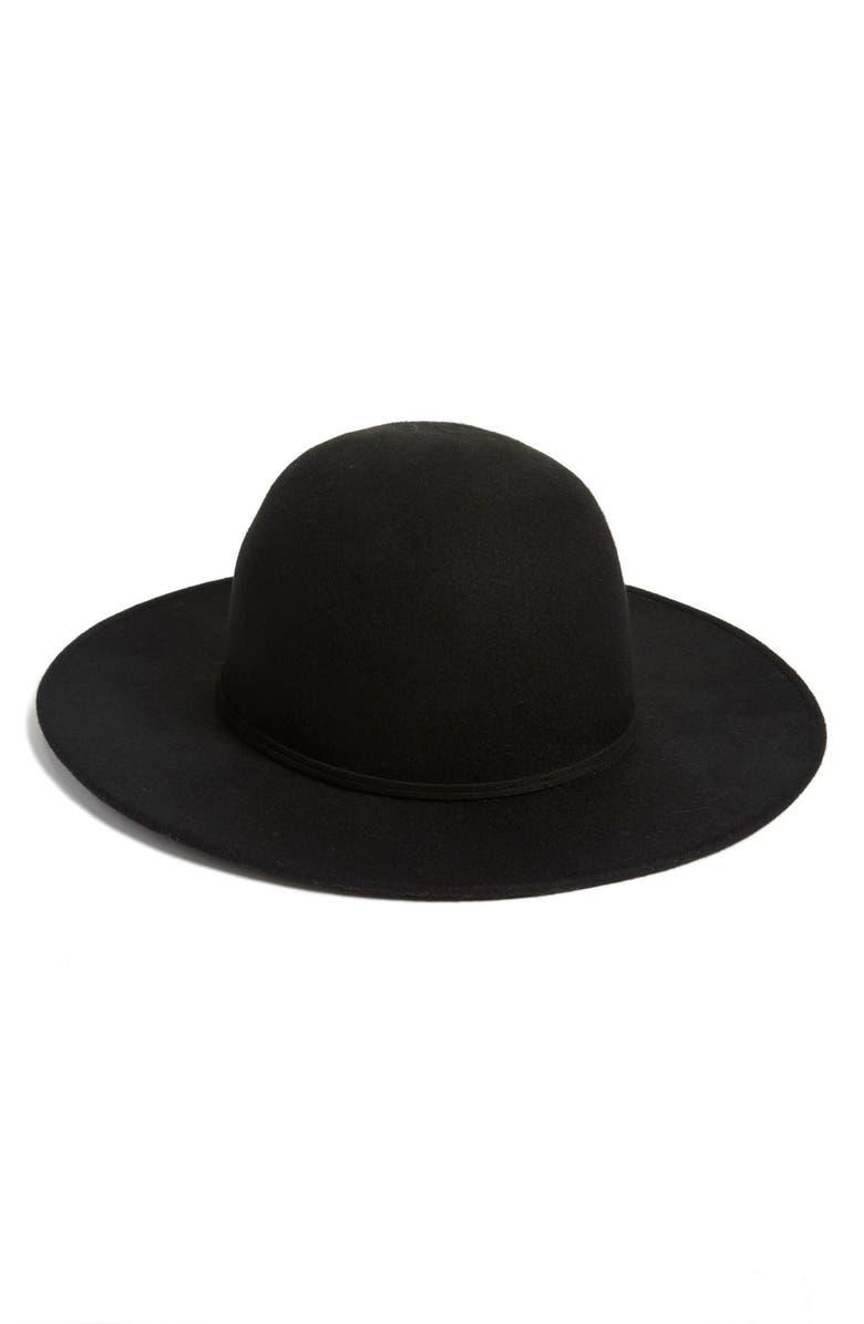 HINGE Wool Round Crown Hat, Main, color, 001