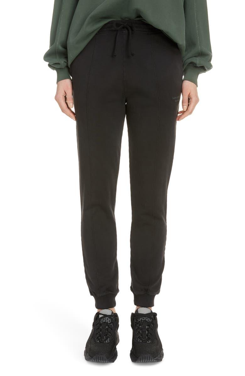 ACNE STUDIOS Felodie Acid Wash Sweatpants, Main, color, BLACK/ DUSTY GREEN