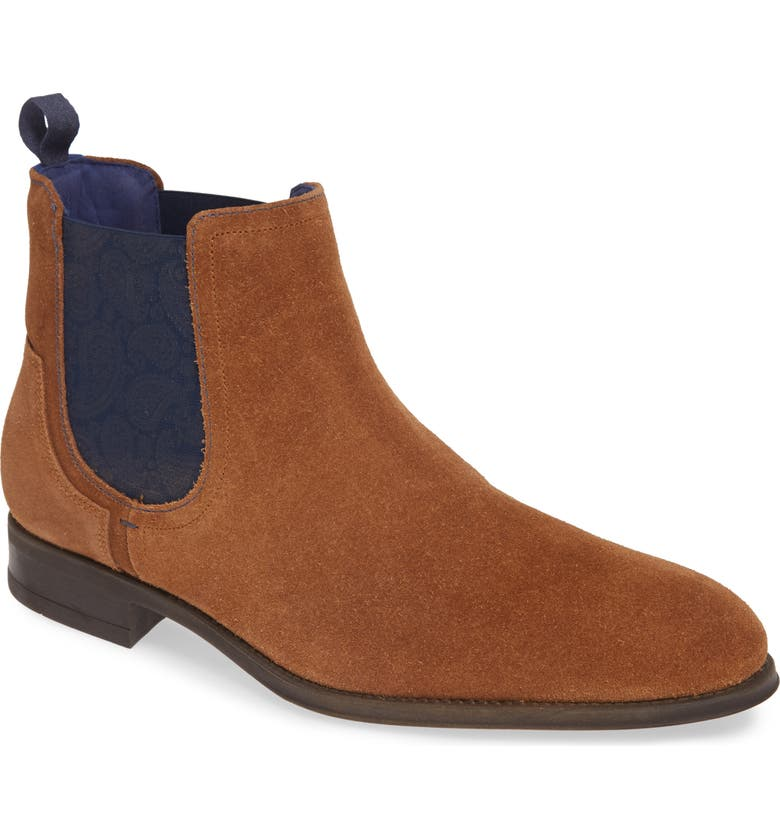 TED BAKER LONDON Travics Chelsea Boot, Main, color, TAN SUEDE