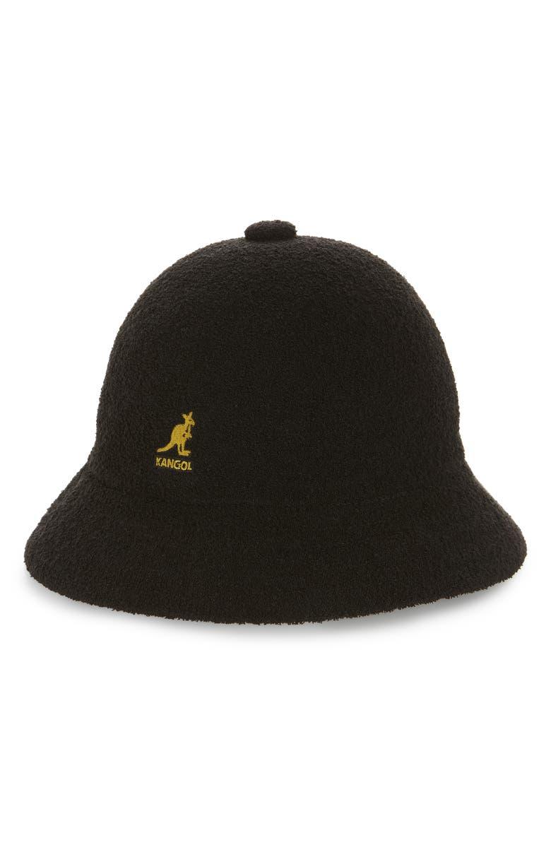 KANGOL Bermuda Casual Cloche Hat, Main, color, BLACK/ GOLD