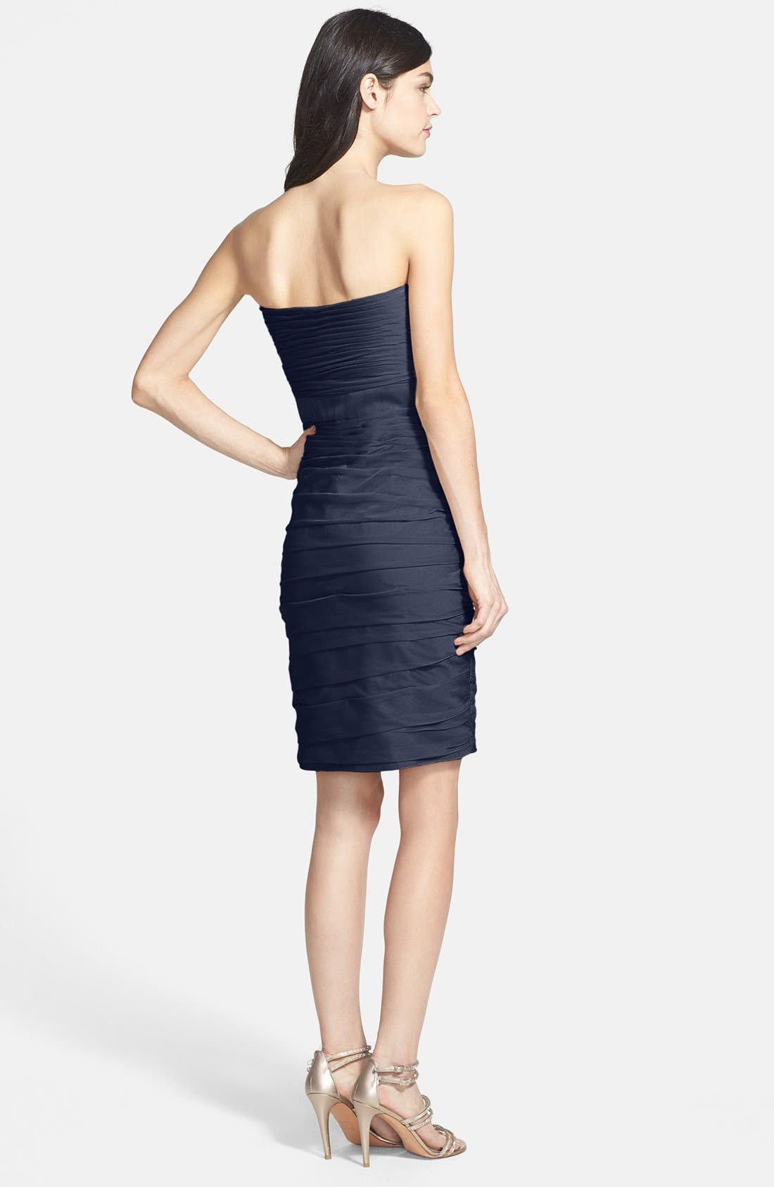 ,                             Ruched Strapless Cationic Chiffon Dress,                             Alternate thumbnail 44, color,                             400