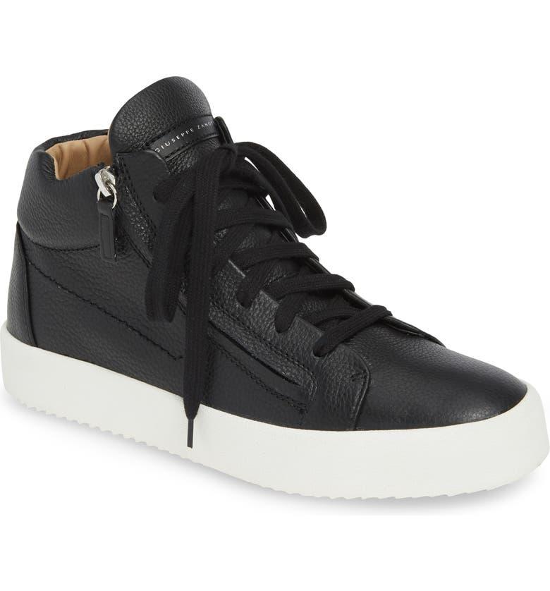 GIUSEPPE ZANOTTI Mid Top Sneaker, Main, color, NERO/ BLACK