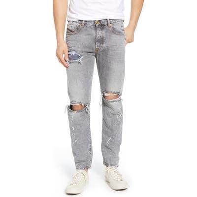 Diesel Mharky Slim Straight Leg Jeans, Grey