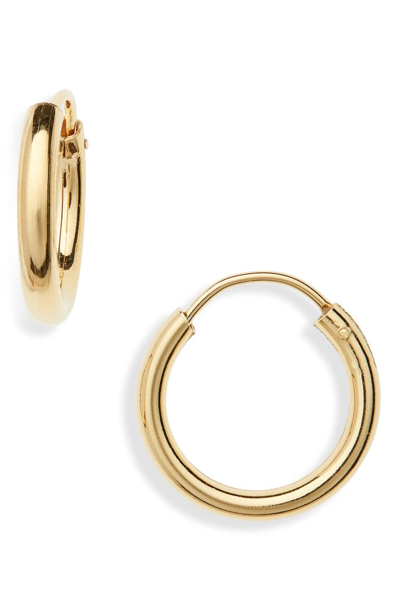 ARGENTO VIVO STERLING SILVER Argento Vivo Milano Sterling Hoop Earrings, Main, color, GOLD