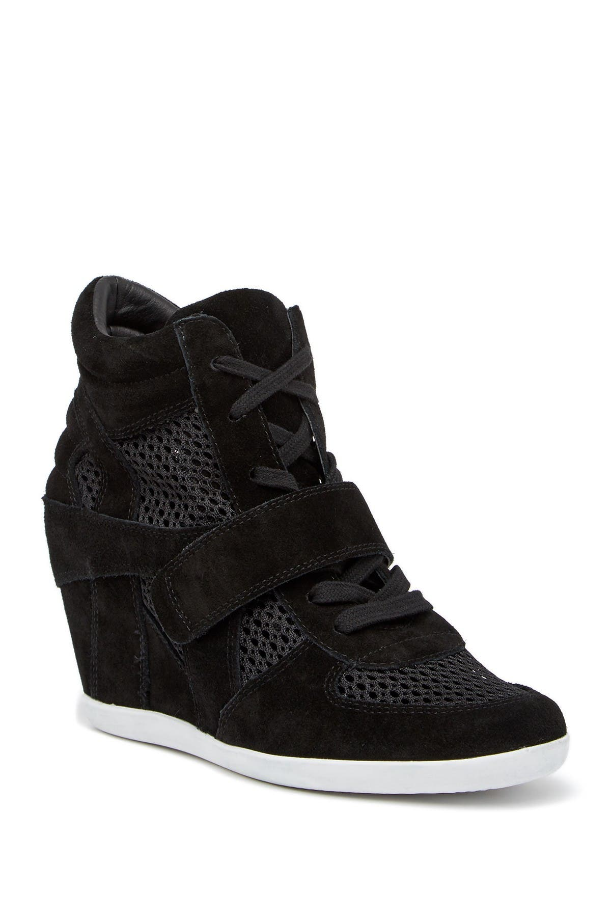 Image of Ash Bowie Suede Perforated Wedge Sneaker