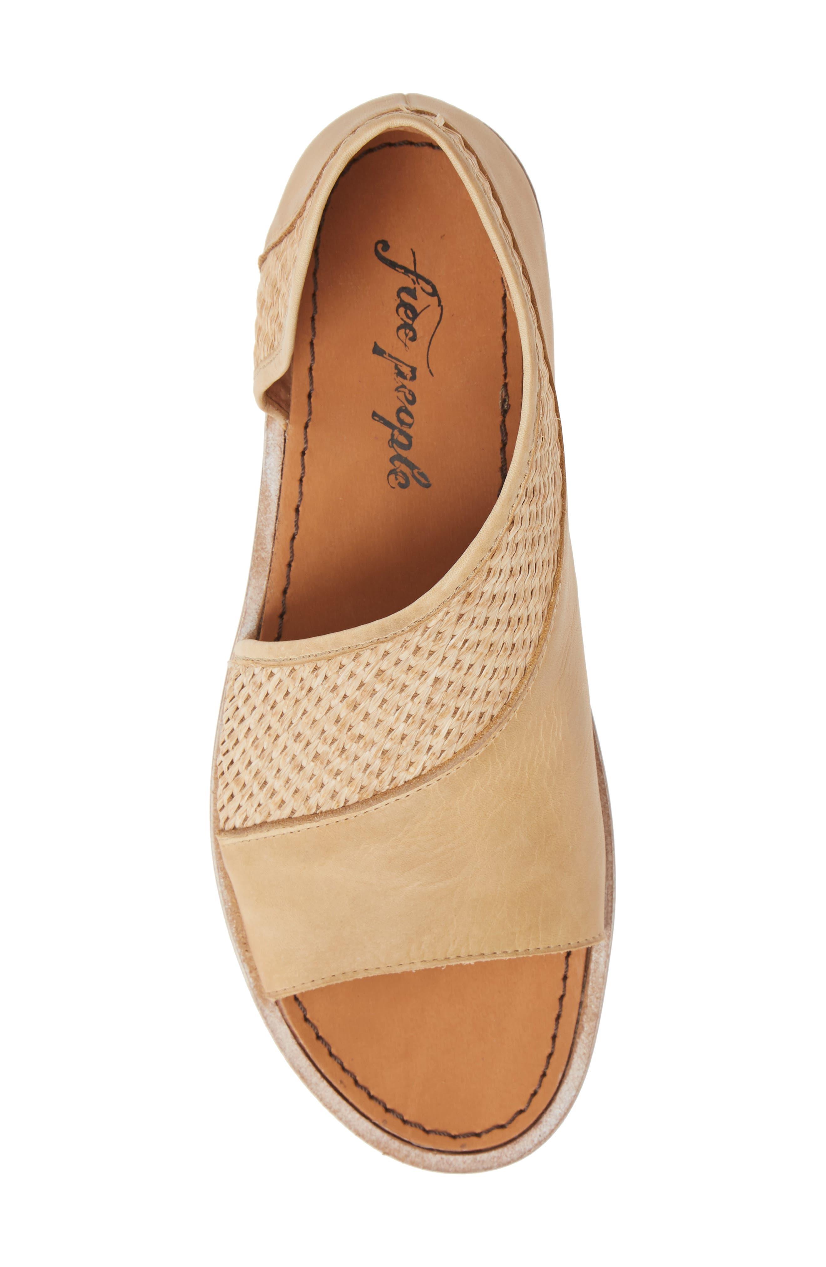 ,                             'Mont Blanc' Asymmetrical Sandal,                             Alternate thumbnail 6, color,                             NATURAL