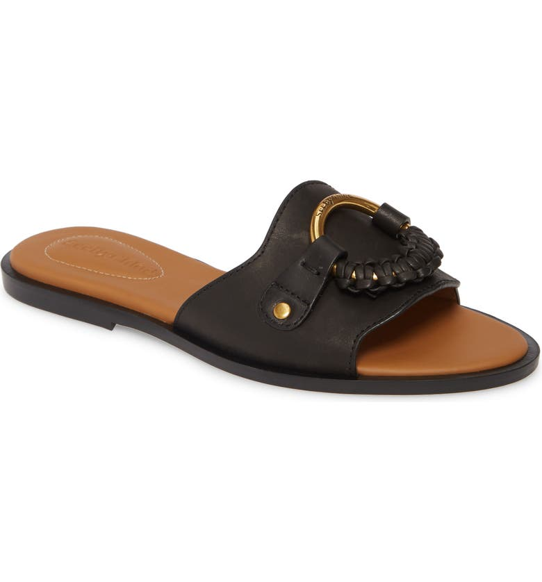 SEE BY CHLOÉ Hanna Slide Sandal, Main, color, NERO