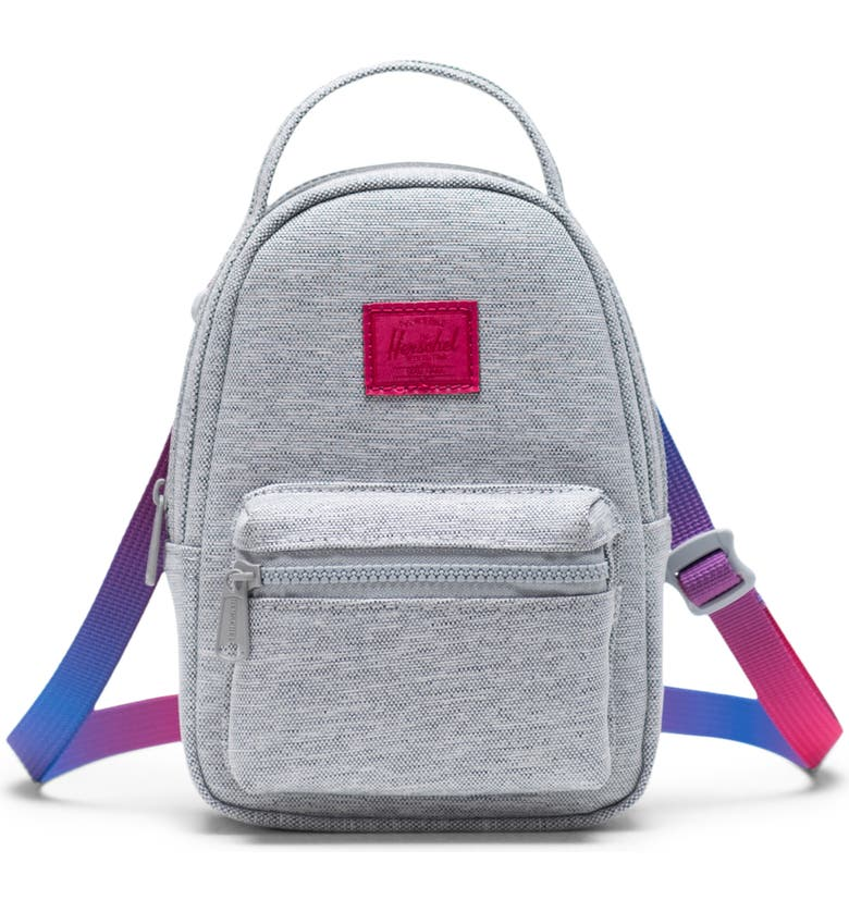HERSCHEL SUPPLY CO. Nova Crossbody Backpack, Main, color, LIGHT GREY CROSSHATCH SUNRISE