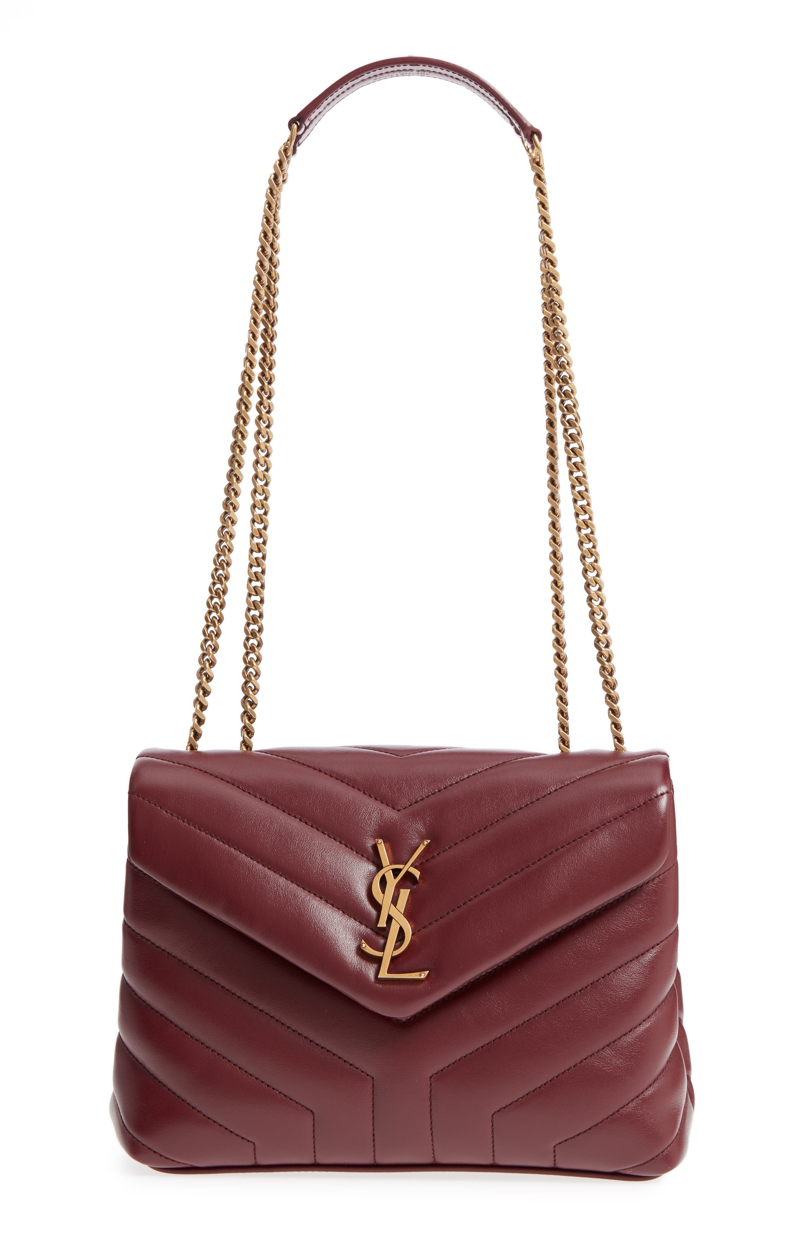,                             Small Loulou Leather Shoulder Bag,                             Main thumbnail 28, color,                             930