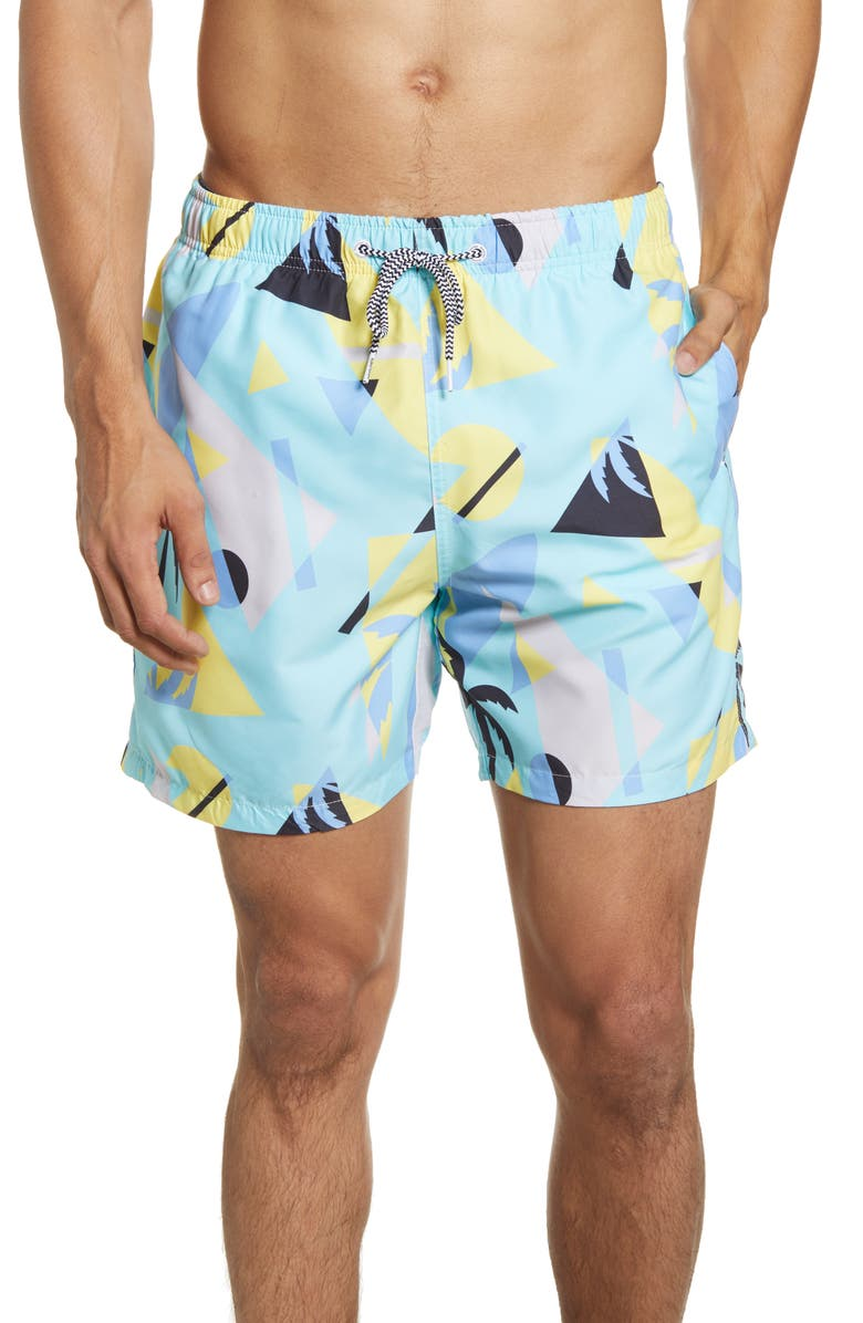 BOARDIES Overlay Mint Swim Trunks, Main, color, MINT