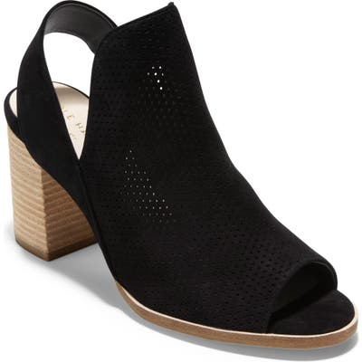 Cole Haan Callista Perforated Slingback Sandal B - Black