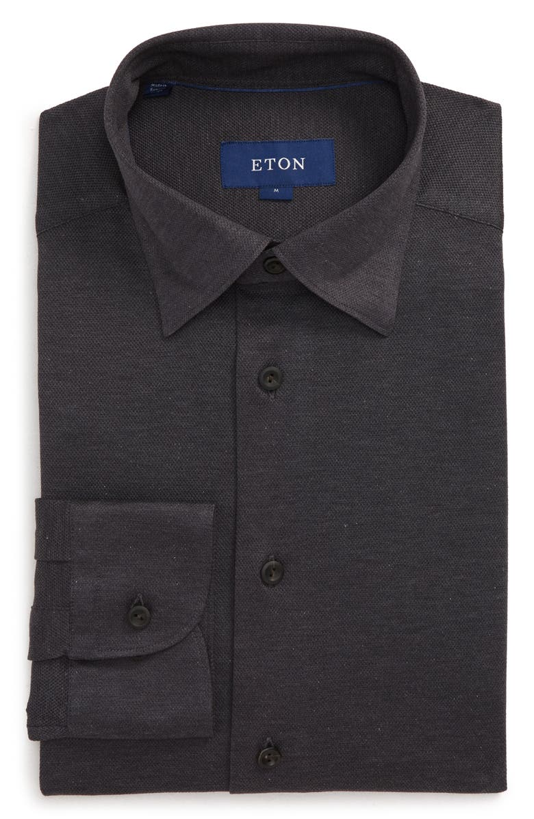 ETON Soft Collection Slim Fit Solid Dress Shirt, Main, color, GREY