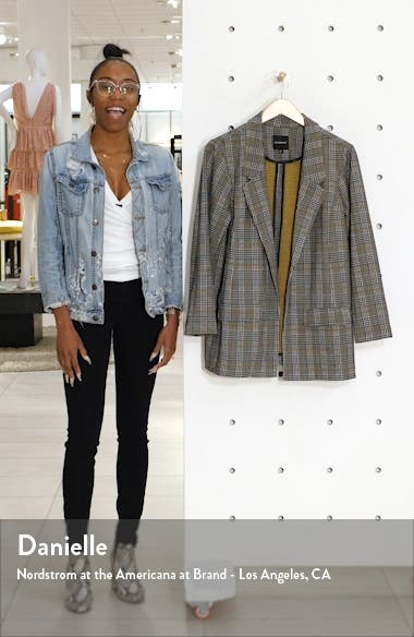 Plaid Boyfriend Blazer, sales video thumbnail