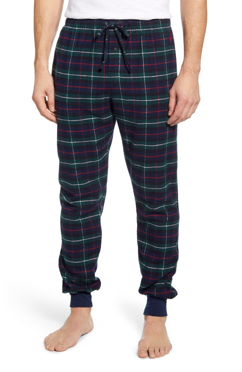 POLO RALPH LAUREN Plaid Flannel Jogger Pajama Bottoms, Main, color, KESINGTON PLAID