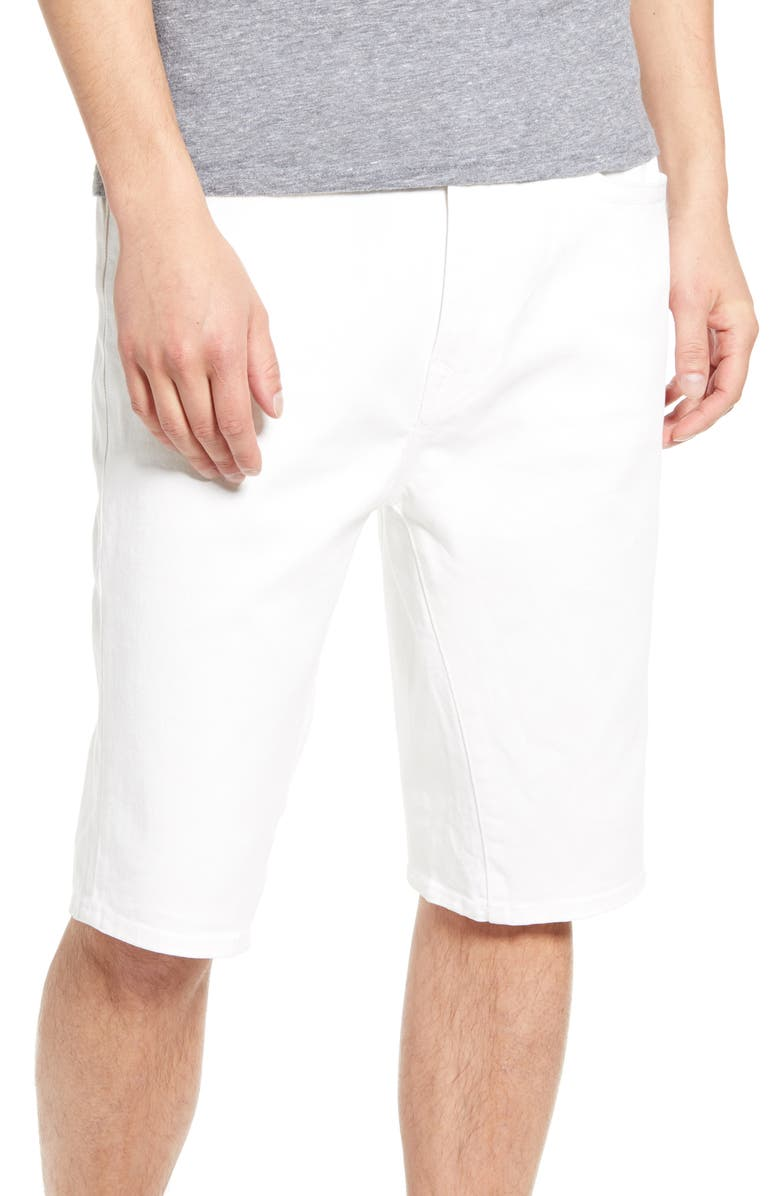 TRUE RELIGION BRAND JEANS Marco Denim Shorts, Main, color, WHITE WATER WASH