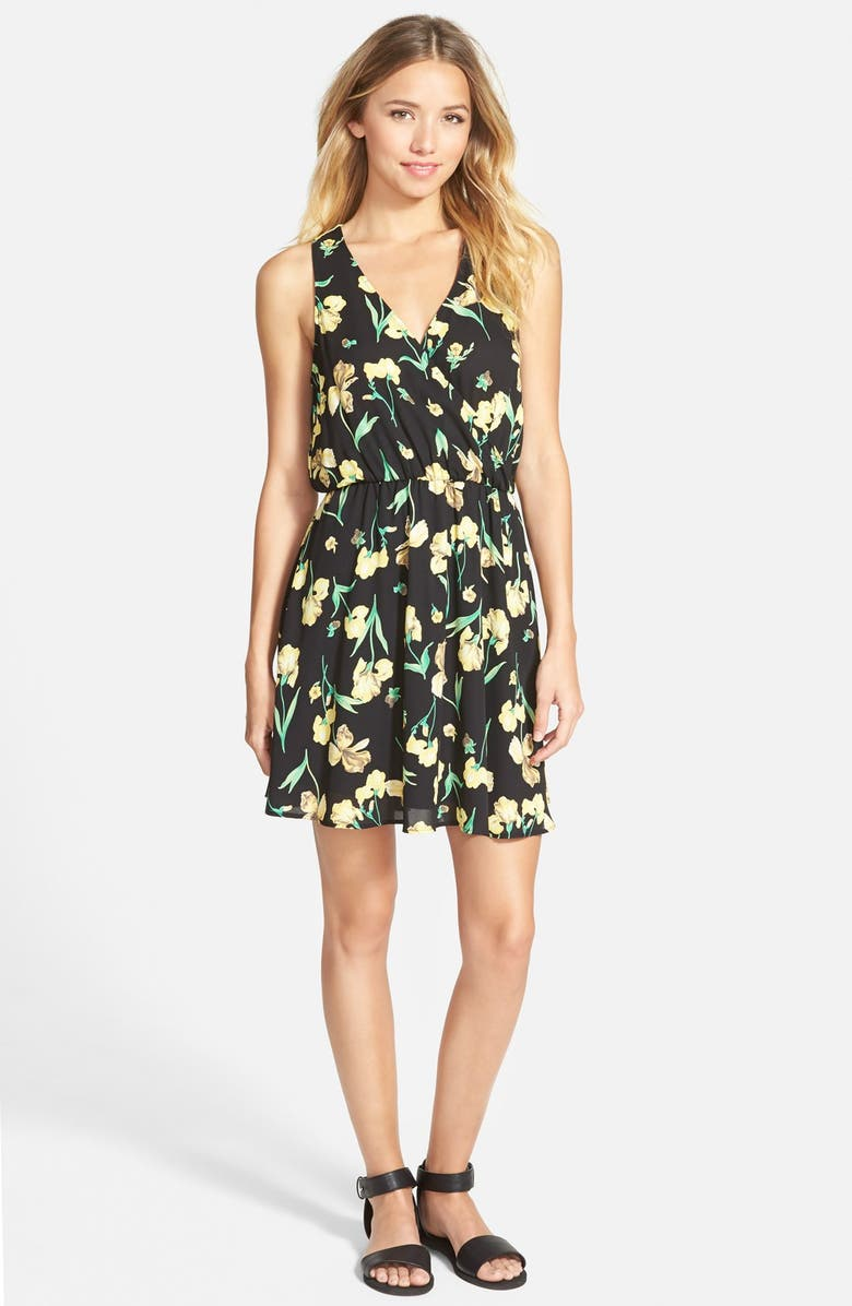 --- Lush 'Kylie' Skater Dress, Main, color, 001