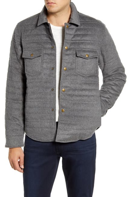 Image of Billy Reid Michael Slim Fit Quilted Shirt Jacket