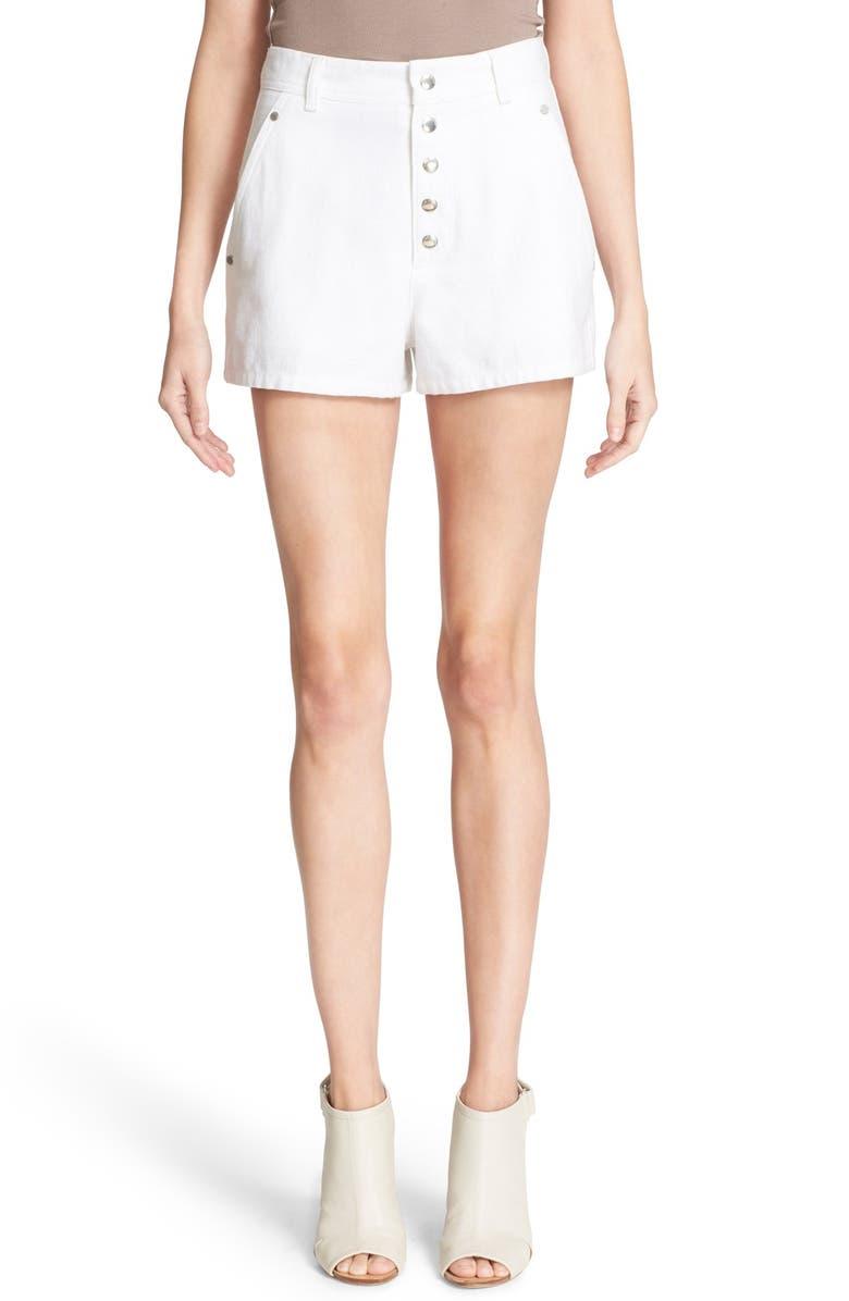 RAG & BONE 'Branson' High Waist Shorts, Main, color, 100