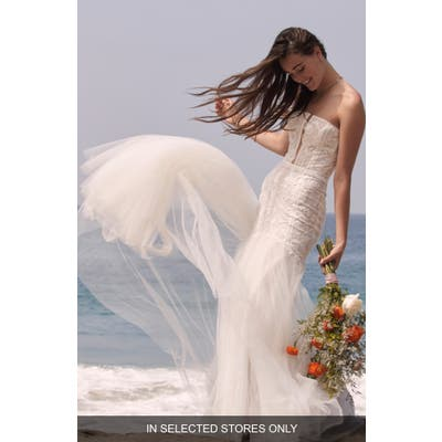Willowby Aine Strapless Tulle Mermaid Wedding Dress