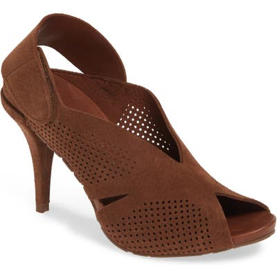 Pedro Garcia Yurity Perforated Slingback Sandal, Brown