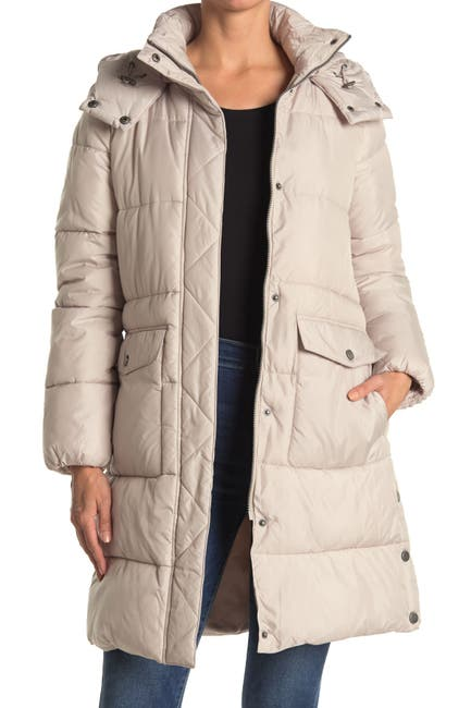 Image of Lucky Brand Hooded Long Puffer Parka Jacket