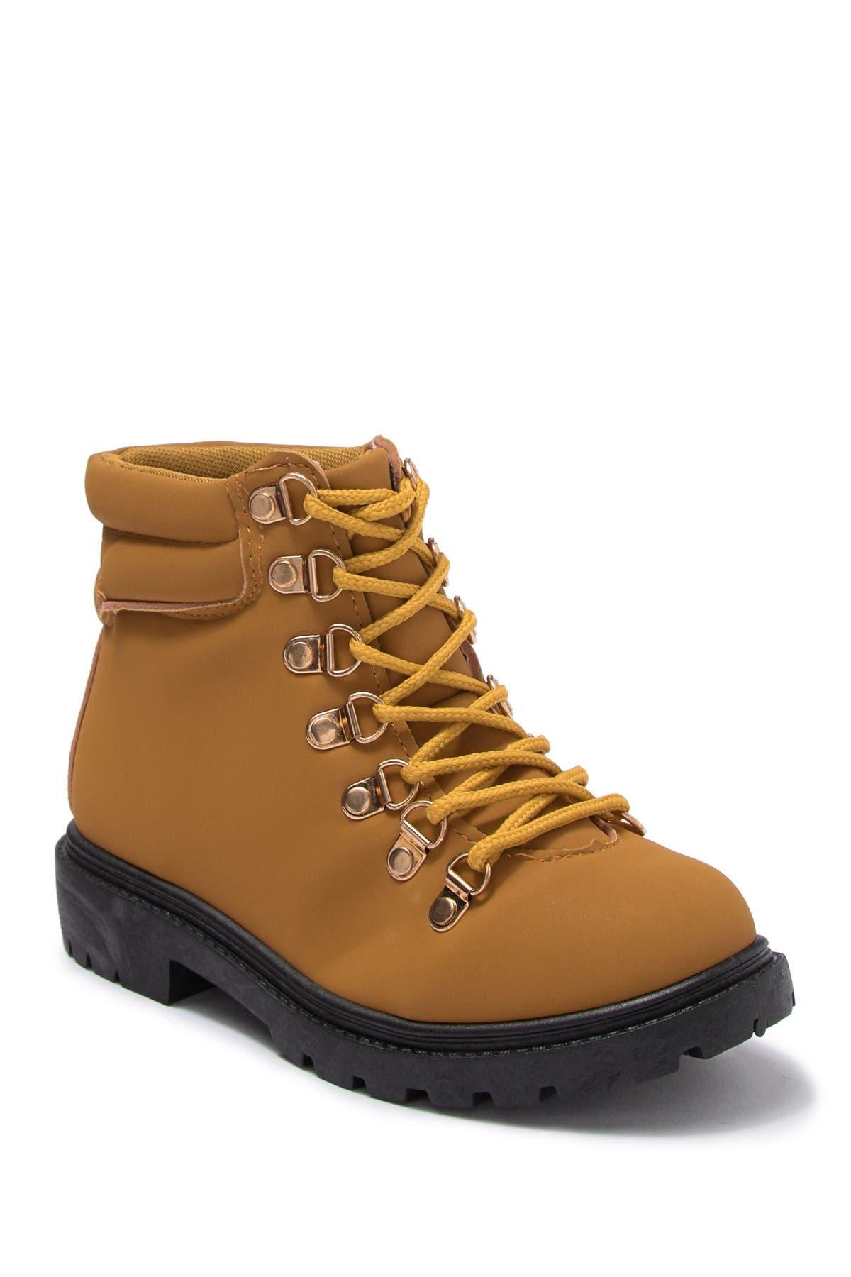 Image of OLIVIA MILLER OMG Lace-Up Hiker Boot