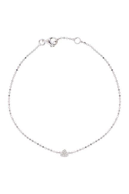 Image of Bony Levy 18k White Gold Petite Diamond Triangle Bracelet - 0.03 ctw