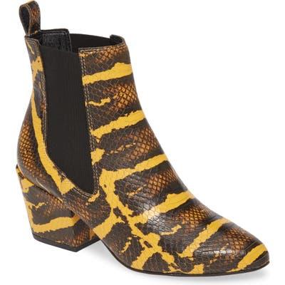 Matisse Morgan Snake Embossed Boot- Yellow