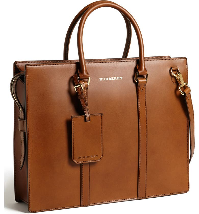 BURBERRY 'Ambrose' Briefcase, Main, color, 201