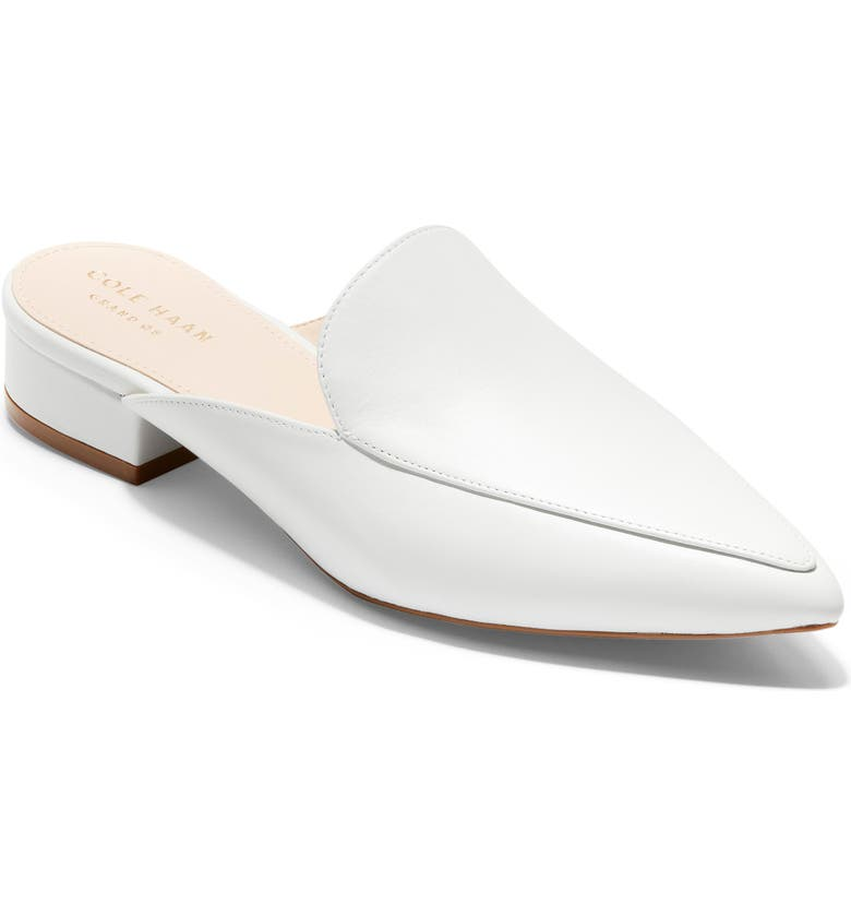 COLE HAAN Piper Loafer Mule, Main, color, WHITE LEATHER